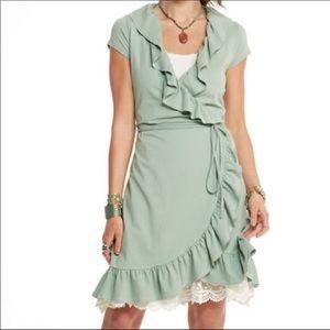 Matilda Jane Mint Green Short Sleeve Wrap Dress